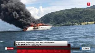Båt tok fyr i Vagsøy