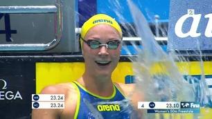 Se Sjöström sette verdensrekord på 50 meter fri