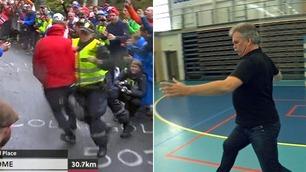 Se TV 2-Bredeli gjenskape Fløyen-taklingen  – i håndballstil!