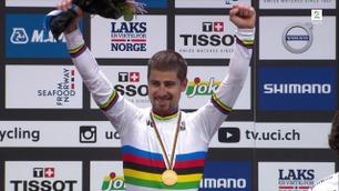 Sagan, Kristoff og Matthews mottok VM-medaljene på Torgallmenningen