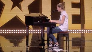 Ikke vist på TV: Sarah Hovda synger i Norske talenter