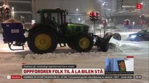 Snøkaos på Østlandet: – La bilen stå hvis det er mulig
