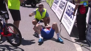 Nordmann i stygg krasj i Tour Down Under