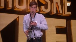 Ikke vist på TV: Herman Støa spiller på audition