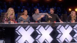 Ikke vist på TV: Slik reagerer «Fingern» på Kristians beatboxing