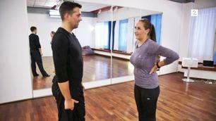 Her innser Anna Rasmussen at dansetreningen er tyngre enn hun trodde