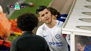 Morata kunne ikke skjule skuffelsen etter at han ble byttet ut