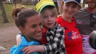 Isak (4) ble lam som ettåring. I helgen løp han sammen med Northug og Weng