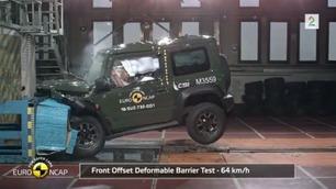 Krasjtest: Skuffende resultat for Suzuki Jimny
