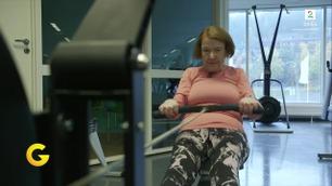 Spreke Reidun (88) er en stamkunde på treningssenteret