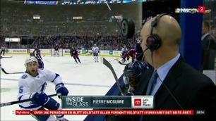 Sportsnyhetene: Kommentator fikk nesten puck i ansiktet