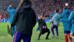 Diego Simeone med balle-feiring da Atlético tok ledelsen
