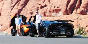 Gisle og Arve dro til Las Vegas – og realiserte drømmebilene