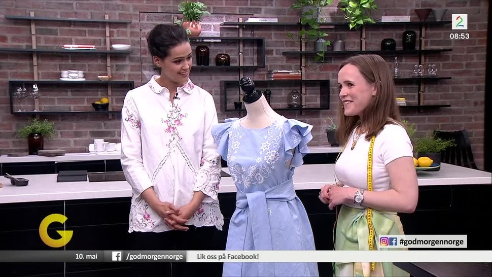 Se hvordan en brodert duk blir til en nydelig kjole