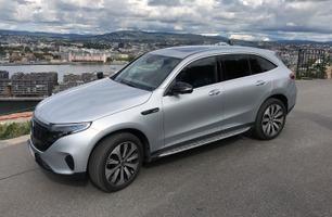 Her Mercedes elbil på plass i Norge