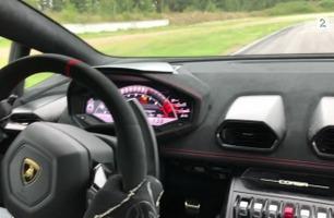 Så fort kjører nye Lamborghini Huracan Performante på Vålerbanen
