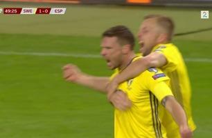 Sverige klarte uavgjort hjemme mot Spania