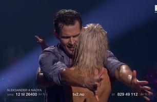 Aleksander og Nadya fikk full pott for tredje gang og stående applaus i siste dans