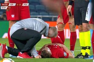Kvalik-skandale: Banestormer løp ned og skadet Polen-spiller