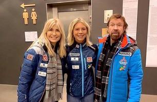 Chuck Norris kom med et helt spesiell tilbud til Norges hoppdronning