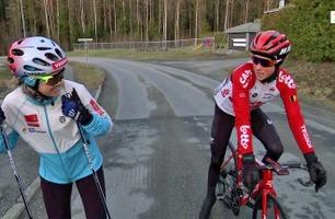 Kjæresteduellen: langrennsløper vs. syklist