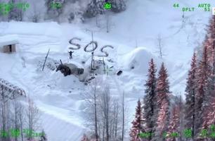 Her oppdager Tyson redningshelikopteret som leter etter ham