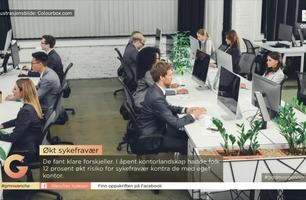 Å jobbe i et åpent kontorlandskap kan gjøre deg syk