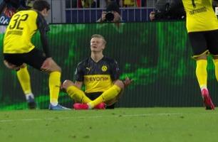 Erling Braut Haaland scoret to i Champions League-debuten for Dortmund