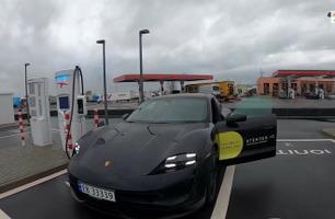 3) Europatur Porsche Taycan: Mange blikk og oppmerksomhet i Tyskland