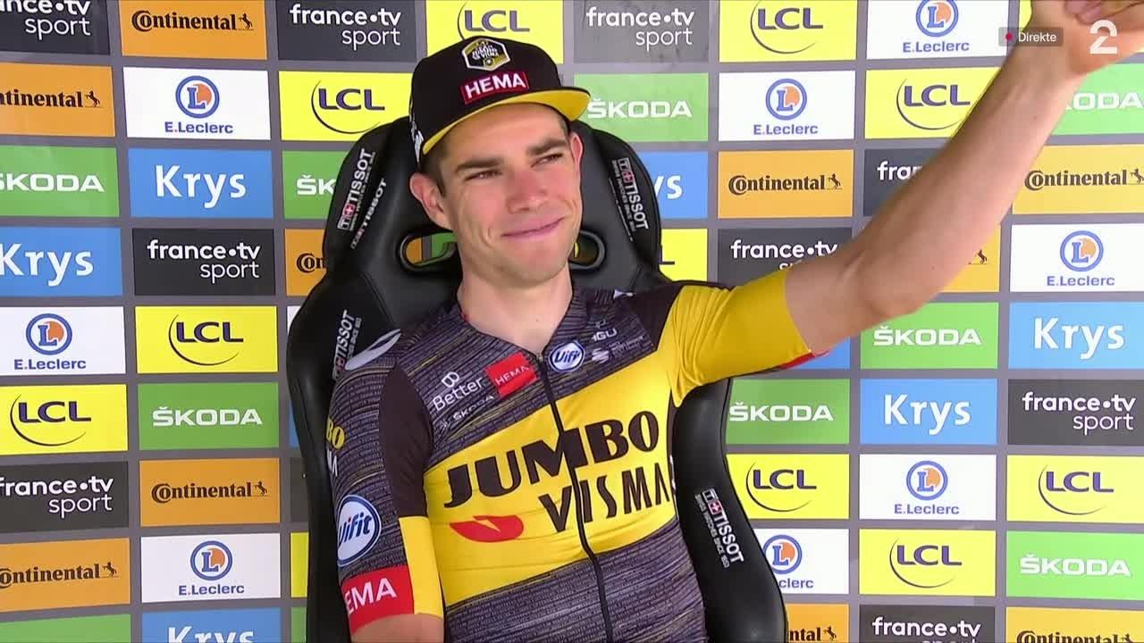 Wout van Aert vant tempoetappen i Saint-Emilion