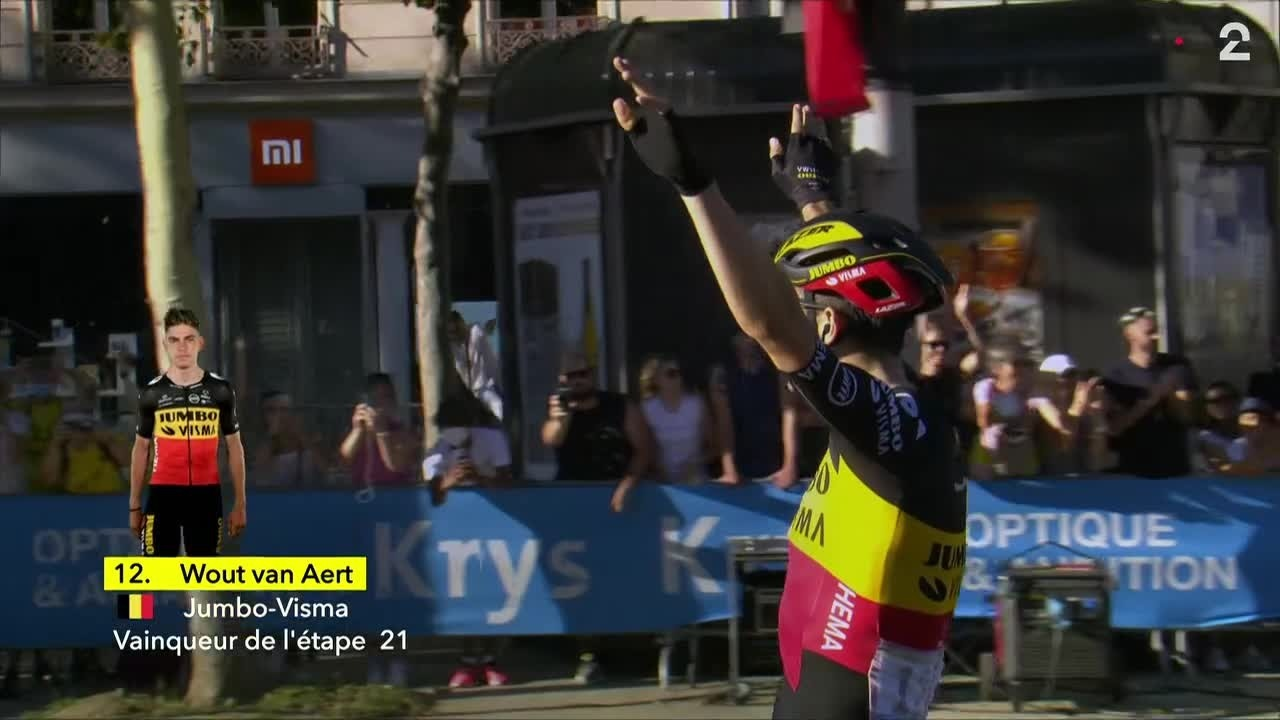 Wout van Aert spurtet inn til seier på Champs-Élysées