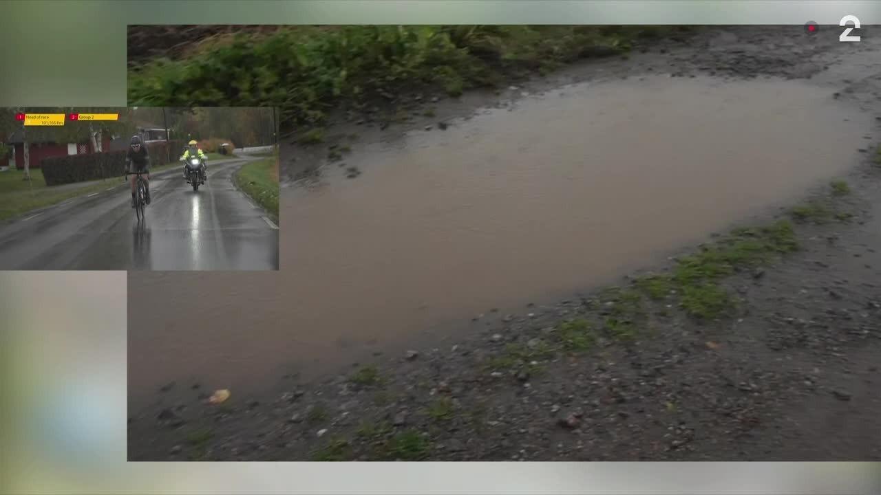Slik ser det ut på gruspartiet i Gylne Gutuer: - Rekordmye regn