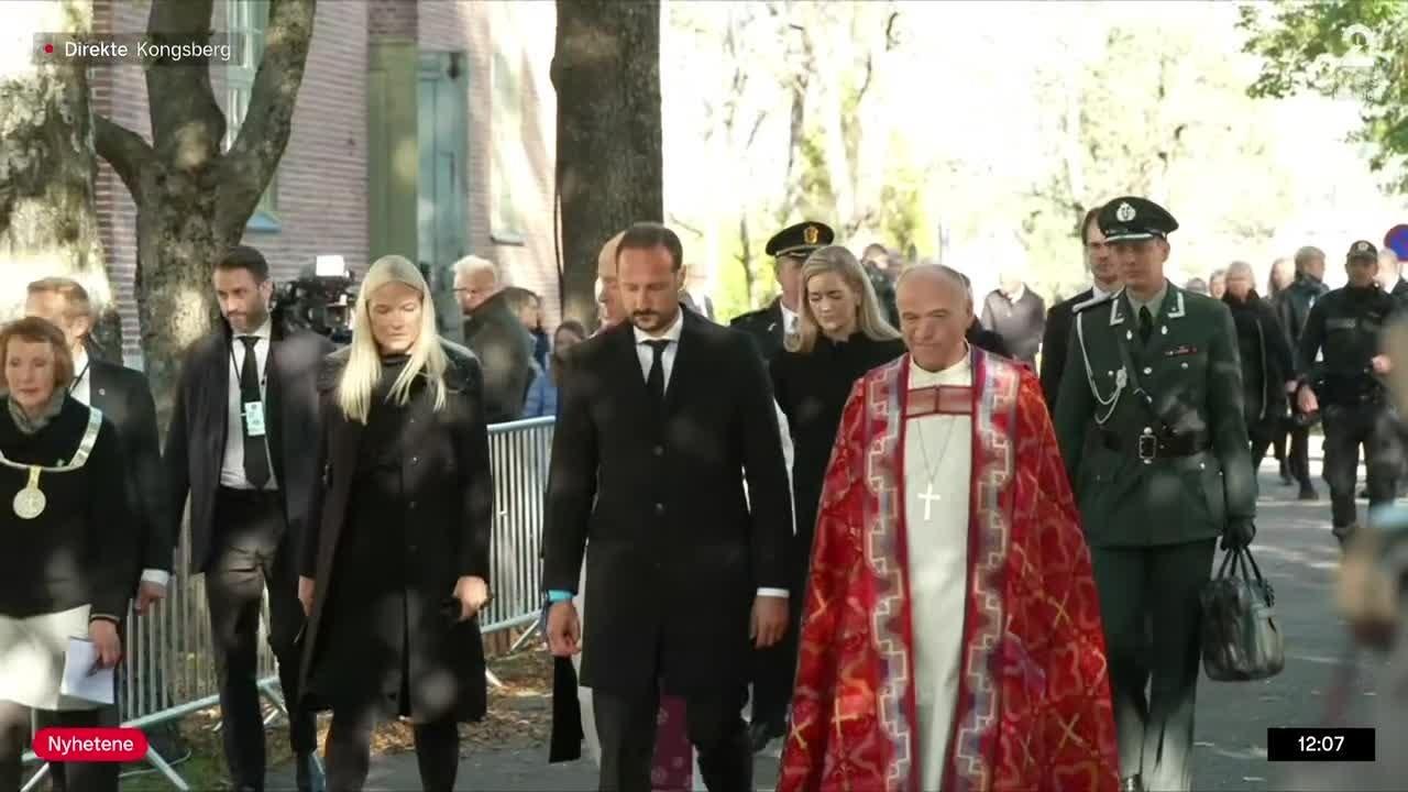 Kronprinsparet deltok på gudstjenesten