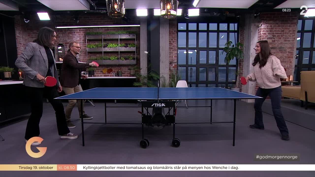 Her utfordrer Desta og Espen OL-medaljevinneren i bordtennis (!)