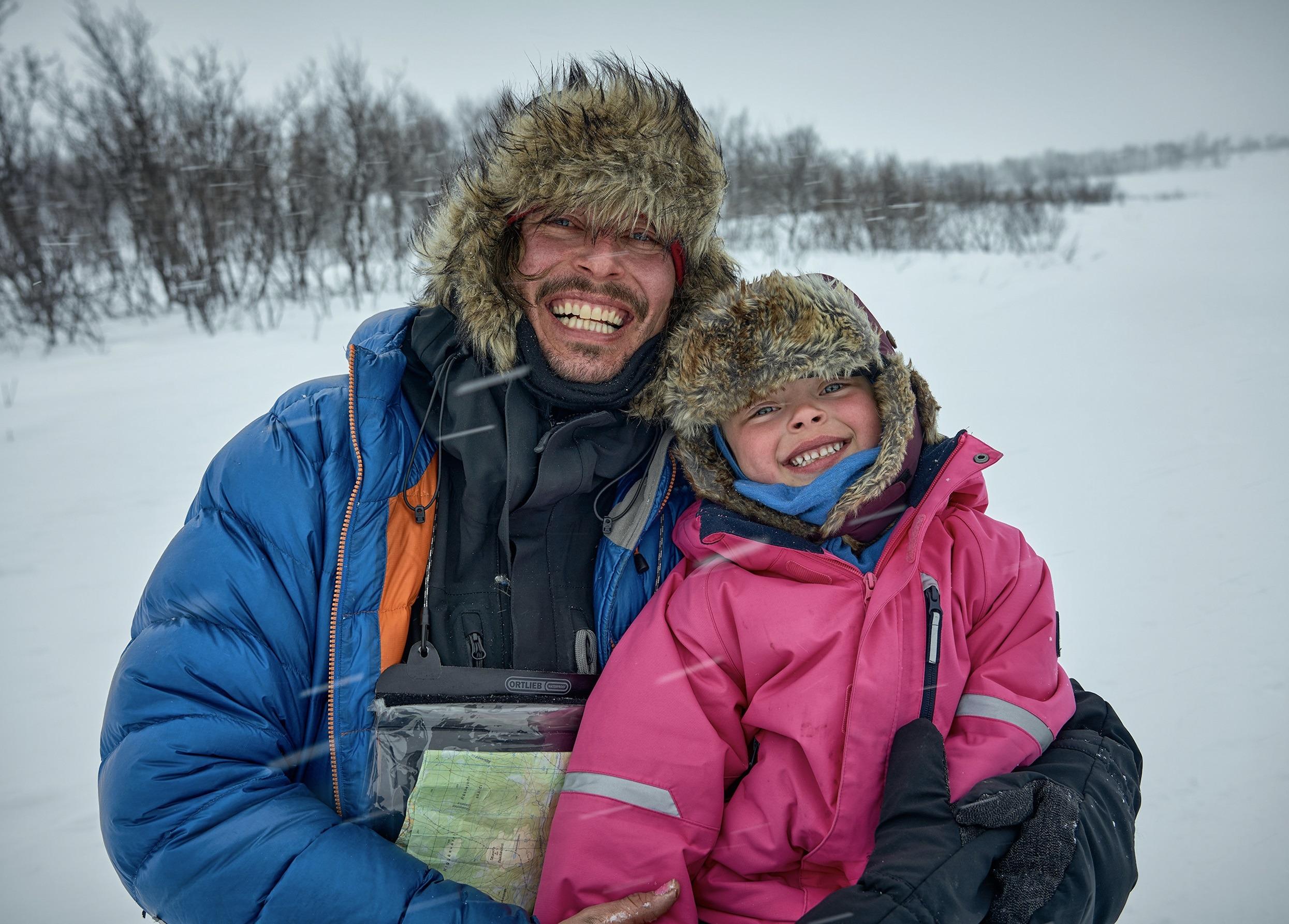 Alexander og Mina (5) går Finnmark på tvers i 24 dager