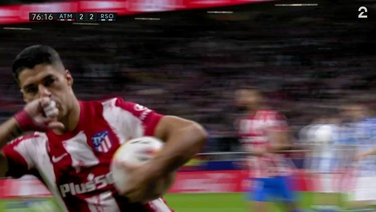 Straffe: Suárez (ATM) 2-2 (77)