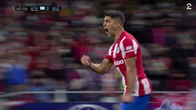 Mål: Suárez (ATL) 1-2 (61)