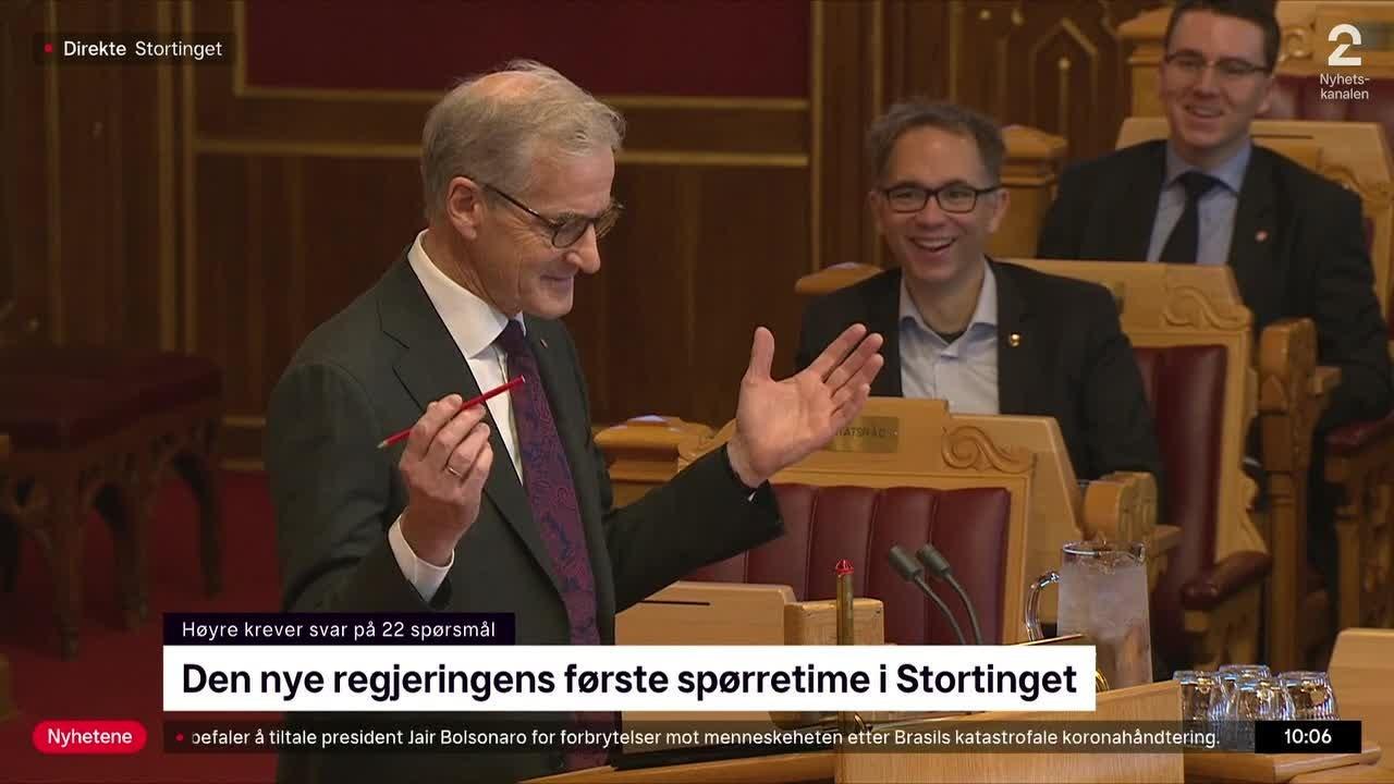 Her kaller han Erna Solberg for statsminister